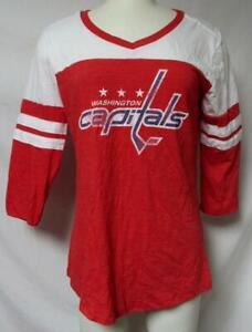 Washington Capitals Women's Size Medium 3/4 Sleeve T-Shirt  A1 4333