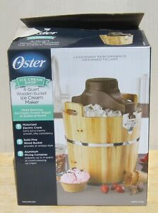 Oster 4-Quart WOODEN BUCKET ICE CREAM MAKER in Original Box ELECTRIC FRSTIC-WDB