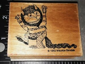 Where the wild things are, kidstamps,281,rubber, wood