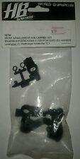 RC PART HB BY HPI RACING FRONT SPINDLE / REAR HUB CARRIER SET 68796