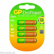 GP AA Rechargeable Batteries 1300 mAh EkoPower NiMH HR6 - Pack of 4