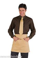Camicia Uomo da Lavoro Classica MARRONE SCURO Collo Morbido S M L XL Estiva