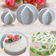 Set 3 Stampi Espulsione Forma Foglia Pasta Zucchero Cake Design Decora Dolci dfh