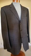 ISAIA 3 Button Gray/Brown 100% Mid Weight Wool Sport Coat- Perfect- Generous 46L