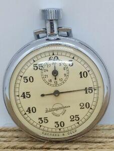"""Vintage Soviet stopwatch """"Zlatoustvsky Watch Factory"""" of the USSR WORKS !!!"""