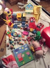 PEPPA PIG Bundle TOY Over 10 Playsets Inc Pickup House Rocket Train Etc MASSIVE