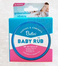 Babini Baby Rub Balm Organic Natural Oil Smoothes Comforts Baby 3+ Month 18g.