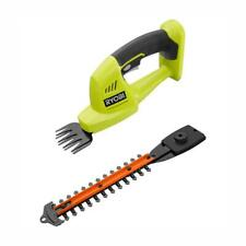 Ryobi Cordless Hedge Trimmer Grass Shear 18-V 5/16 in. Cut Dual action Tool Only