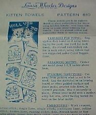 Vintage Transfer Pattern Kitty Cat Wedding 1940s Embroidery Mail Order