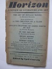 Horizon. Sept. 1941. The Art of Donald McGill by George Orwell.Poems by Spender.
