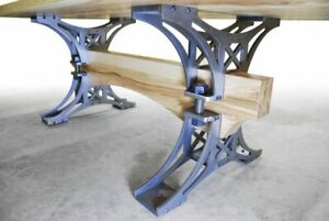 Steel table legs rustic industrial style, kitchen, bar table legs