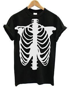 !CLEARANCE SALE! Skeleton Body T Shirt Halloween Spooky Fancy Dress Cheap CEM2