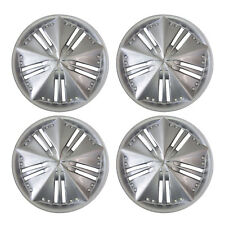 948 Universal Wheel Cover ABS Wheel Skins Set Hub Caps Silver 15'' - Set of 4