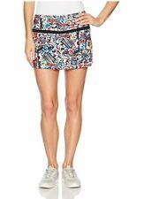 Bollé Women's Graffiti Printed Skirt with Shorts, White, X-Small