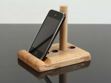 Solid Oak tablet stand adjustable universal, iPad, iPhone, Samsung, etc, UK made