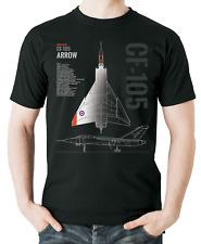 Flyingraphics Aviation themed T Shirt Avro Canada CF-105 Arrow.