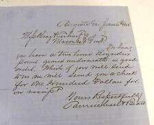 LOT 1800s ANTIQUE BUSINESS LETTERS & LETTERHEADS AUGUSTA GEORGIA RICHMOND COUNTY
