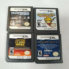 Nintendo DS Lot Of 4 Games Star Wars Transformers Spiderman 2 Drawn To Life Kids