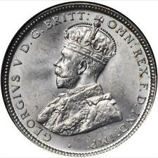 AUSTRALIA GEORGE V  1916 SHILLING SILVER COIN, UNCIRCULATED CERTIFIED NGC MS-63