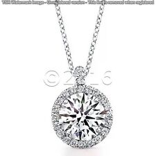 Beautiful 1.71 ct Off White Yellow Moissanite .925 Sterling Silver Pendant E11