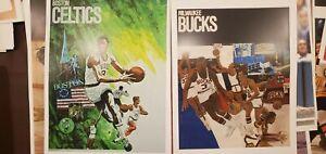 NBA 1970'S VINTAGE posters Boston Celtics and Milwaukee Bucks posters