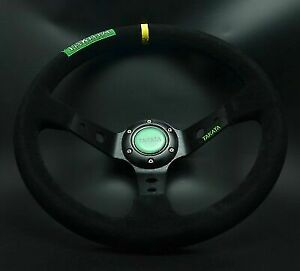 Universal Steering Wheel 350 mm SUEDE DEEP DISH High Quality BK for MO ND