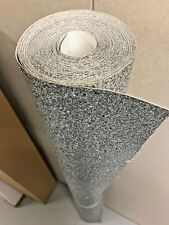 Chunky Silver 3d glitter fabric wallpaper sold by metre 135cm wide