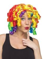 Adult Rainbow Curly Crazy Curls Funny Clown Wig