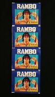 1986 Panini Rambo 4 Pack Lot