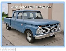 1965 Ford F-250  Crew Cab Pickup Truck  Refrigerator / Tool Box Magnet