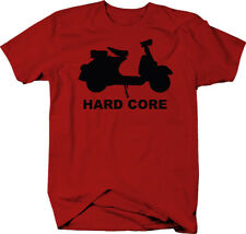Vespa Scooter HARDCORE Minibike Motorcycle  Color T-Shirt