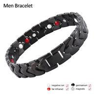 titane super fort Bio thérapie magnétique bracelet guérison arthrite Homme L7