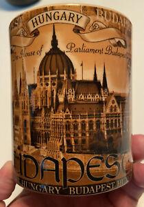 HUNGARY BUDAPEST Beautiful Ornate Colorful Pictorial Souvenir Coffee Mug Minty
