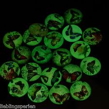 10 Mix Schmetterling Glascabochons Glasstein Klebstein Nachtleuchtend 20mm LP