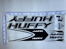 Huffy Stickers 4130  Black, White & Silver.