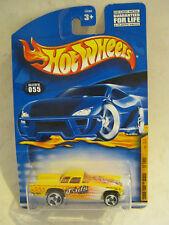 "Hot Wheels Yellow '57 T-Bird Turbo Taxi, ""Tad's Taxi"" Tall Card #055 (JLD-3)"