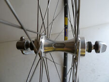vintage Mavic 550 front hub laced to GP4 tubular, 36 hole, never glued