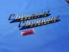 NEW 1960 Chevy Pickup Truck Apache 10 Fender Emblem Pair GM Licensed 3766879