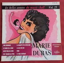 "MARIE DUBAS 25 CM 10"" LP ORIG FR BELLES ANNEES DU MUSIC HALL MON LEGIONNAIRE"