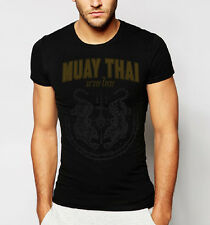 Muay Thai T-shirt with Traditional Twin Tiger Sak Yant Design