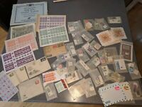"Huge lot Israel stamps 1950's - 1960's plus cinderella ""invite Orphans"" stamps"