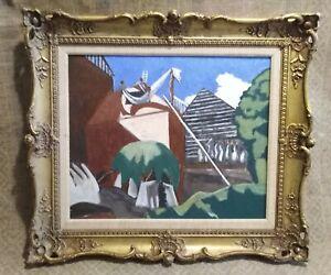 Orig  C20th Modernist landscape, Stanley Spencer