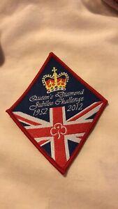 Girl Guide Girlguiding Cymru Broneirion Diamond Jubilee badge patch 2007
