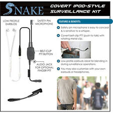 Quick Release Covert SNAKE Ipod-Style Headset for Tait 8100 / 9100 2-Way Radios