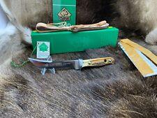 1990 vintage Puma 6394 Hunter's Companion Coltello con manico cervo menta con etichetta