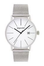 Uhr Armbanduhr Herrenuhr Quarzuhr Gigandet G42-005 Silber Datum Metallband