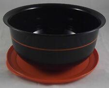 Tupperware C 24 grande table perle bol 3,5 L Noir/Orange neuf emballage d'origine