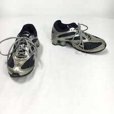 Nike Shox Women's 6.5 Navy Blue Silver Lace Up Athletic Running Walking Shoes