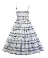 2021 Woman Spaghetti straps dress Music Note Printed Adjustable dress S-3XL dres