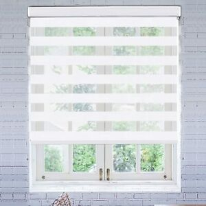 Day & Night Roller Blinds Zebra for Bedroom Dual Layer Horizontal Window Shades